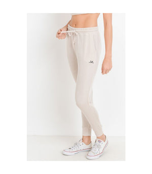 Tapered Drawstring Modal Joggers Natural