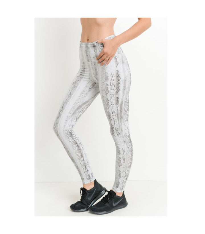 Serpentine Print Highwaist Leggings