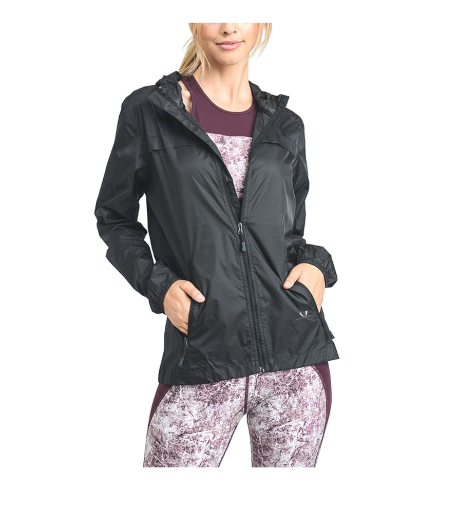 Womens Tech Rain Jacket Black