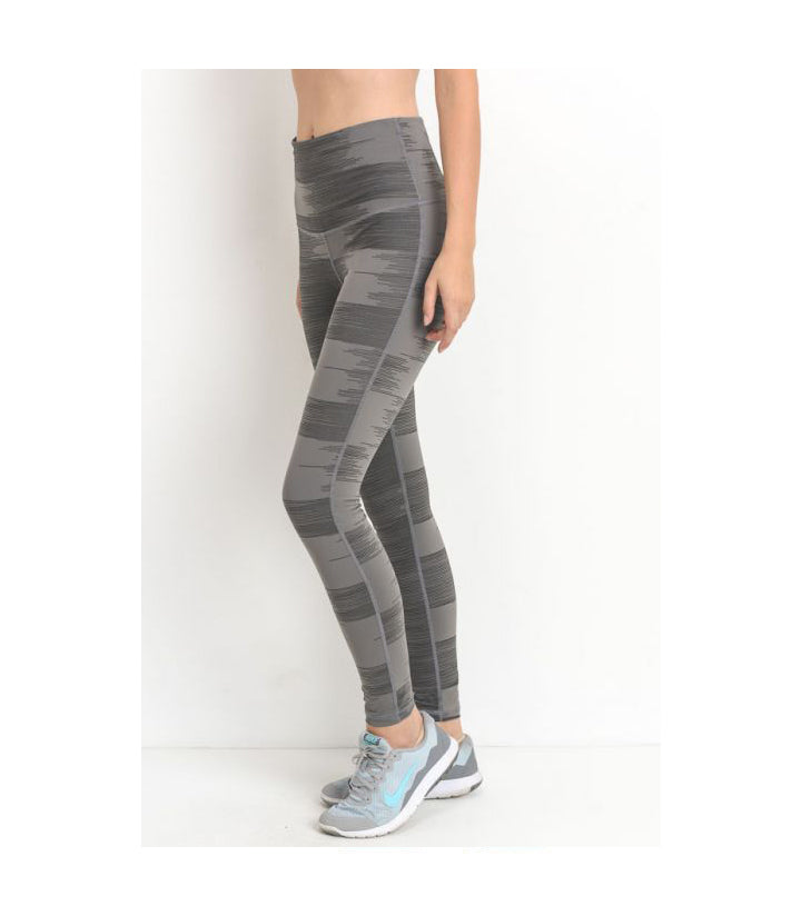 Highwaist Drawn Lines Print Leggings