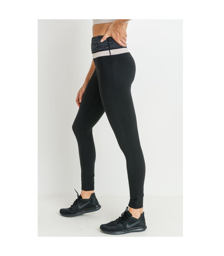 Highwaist Colorblock Melange Leggings