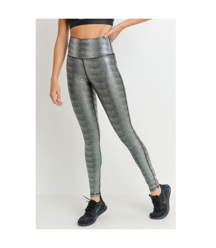 Highwaist Foil Scale Leggings