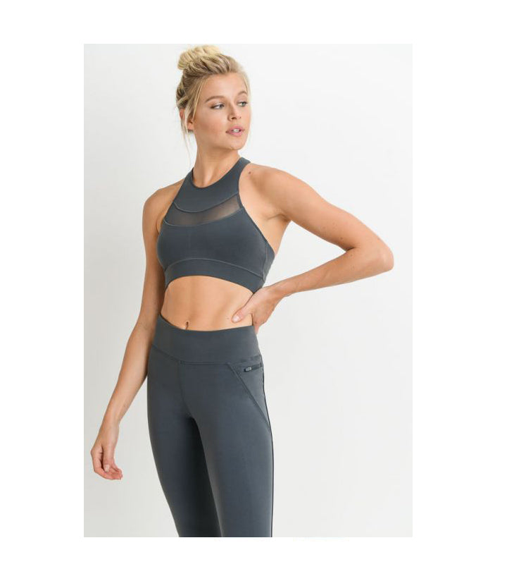 Curve Mesh Performance Sports Bra Pine