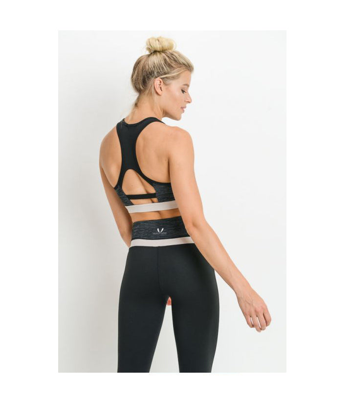 Colorblock Melange Sports Bra