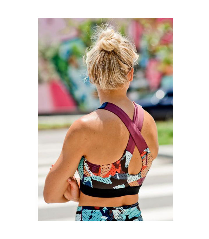 Kaleidoscope Camo Sports Bra