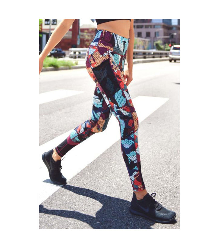 Highwaist Kaleidoscope Camo Full Leggings