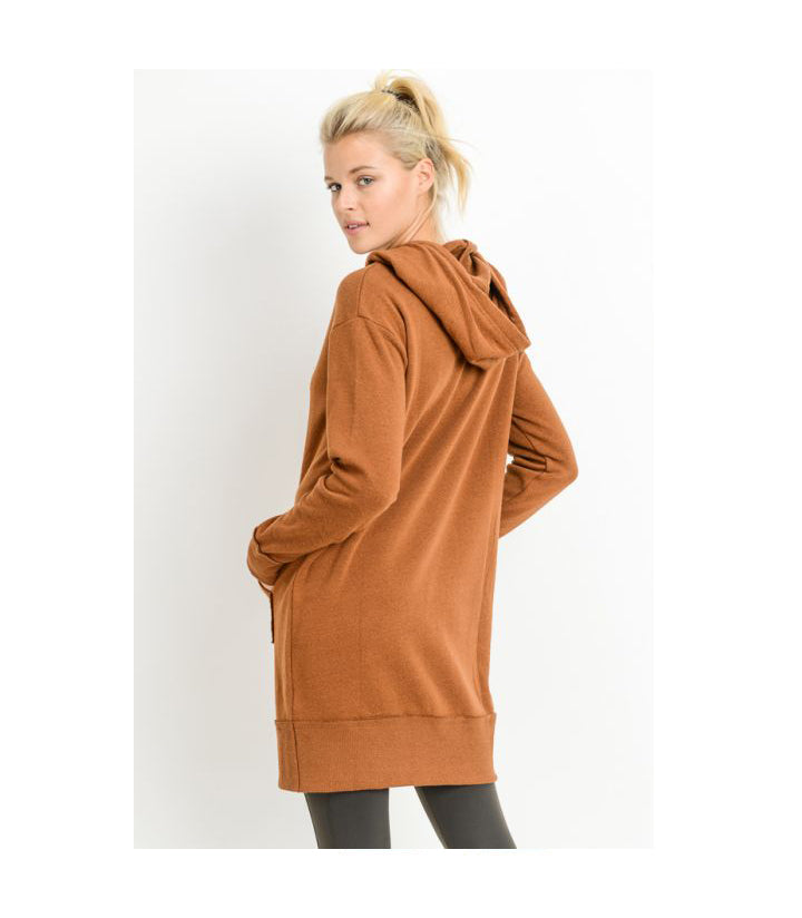Hooded Fleece Sweater Dress Coco