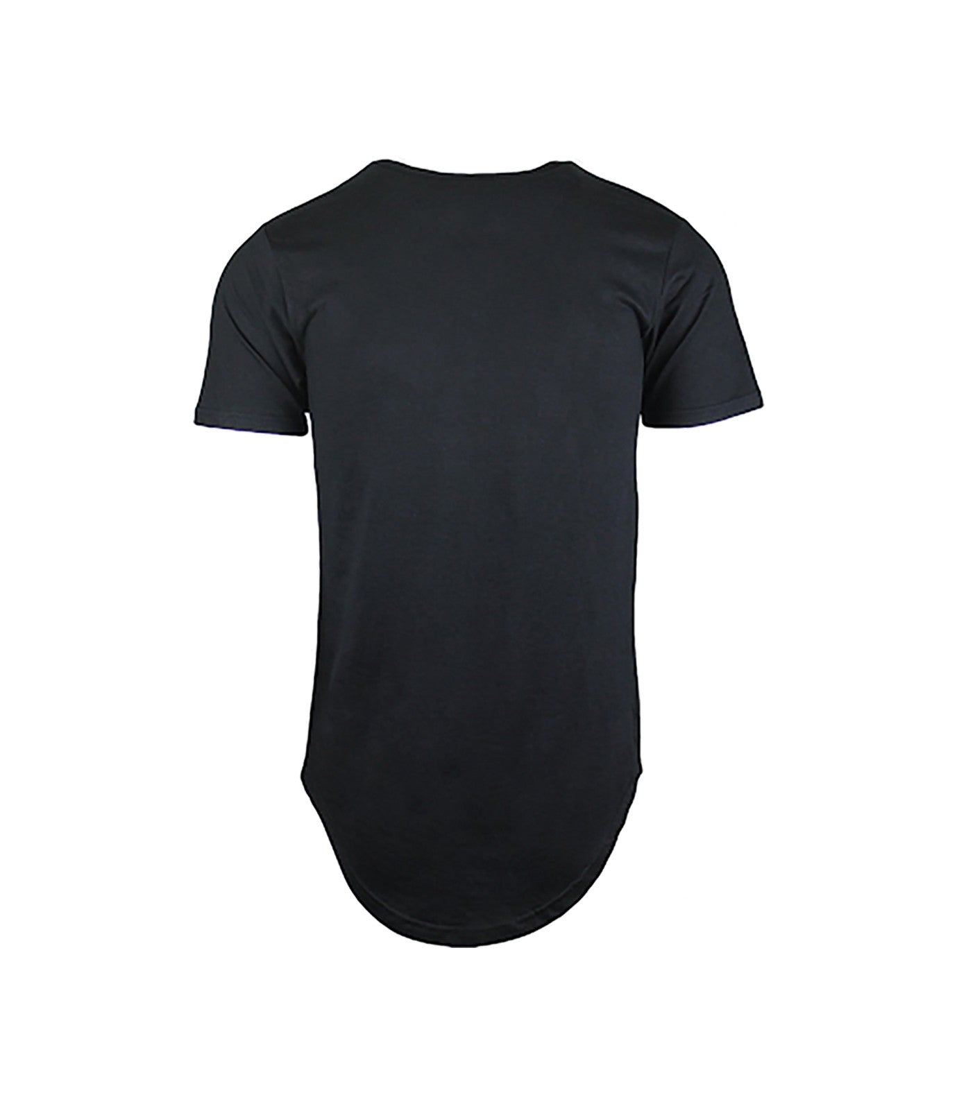 Performance Black Curved Hem T-Shirt