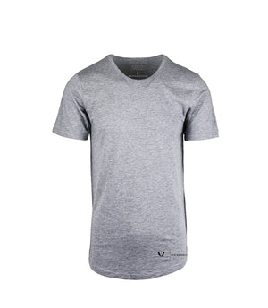 Performance Grey Curved Hem T-Shirt