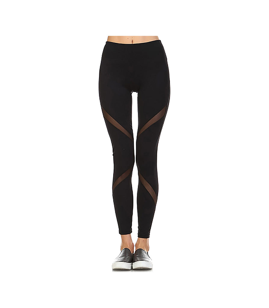 Mesh Performance Leggings Black