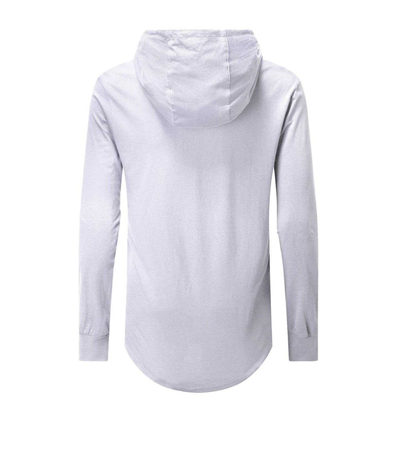 Performance Curved Hem Hoodie Long Sleeve White
