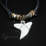 Shark tooth necklace Arabic middle eastern style beads c94