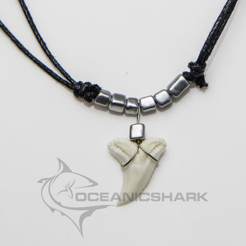 Shark tooth with glass silver pixel block glass hama beads c16