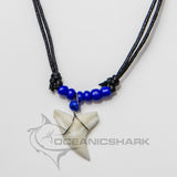 Shark teeth necklace dark deep blue surfing c18
