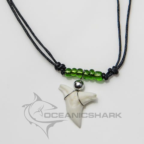 Shark teeth necklace neon green every colour under the sun c31