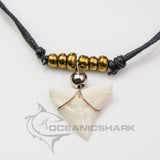 Bull shark tooth necklace for sale silver gold c67