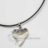 Bull Shark tooth solid silver sculpture carved necklace sale s3