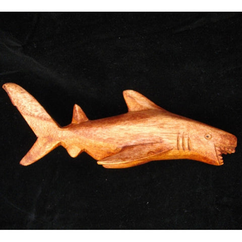 Hand Carved Wooden Shark Small