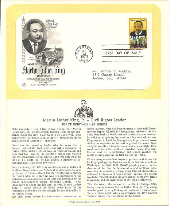 01 13 1979 FDW WH Martin Luther King