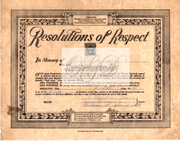 01 17 1966 Odd Fellows Resolution