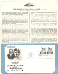 01 20 1977 FDC WH James E. Jimmy Carter Inauguration Day