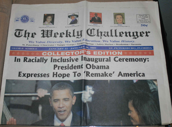 01 22 2009 Obama Weekly Challenger