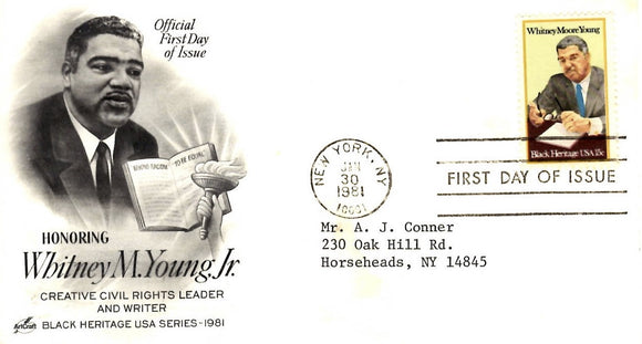 01 30 1981 FDC Whitney Young