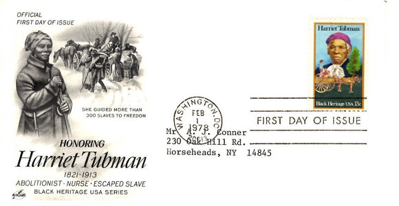 02 01 1978 FDC Harriet Tubman