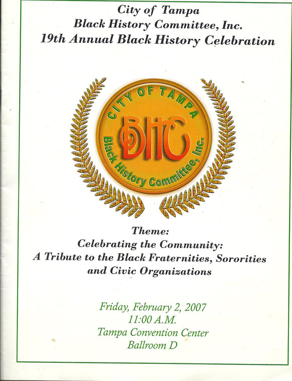 02 02 2007 City of Tampa Black History Committee