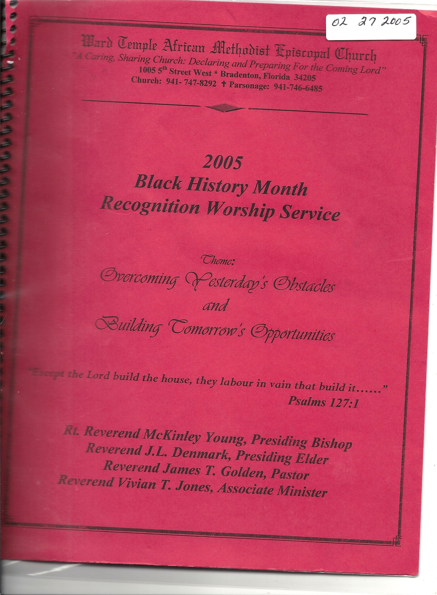02 27 2005 Ward Temple AME