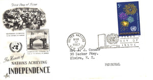 03 17 1967 FDC United Nations