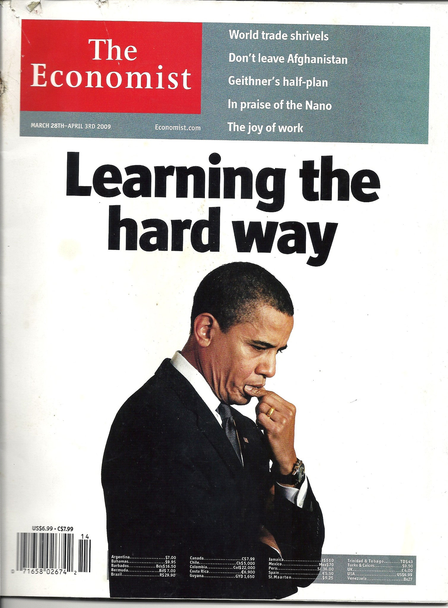 03 28 2009 OBAMA The Economist Magazine