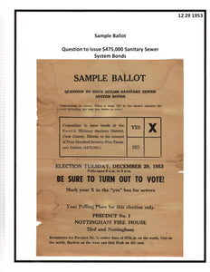 12 29 1953 Cook County Illinois Sample Ballot
