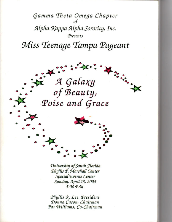 04 18 2004 AKA Miss Teenage Tampa Pageant