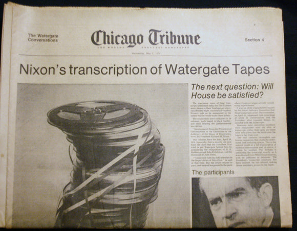 05 01 1975 NEWS Richard Nixon Tapes