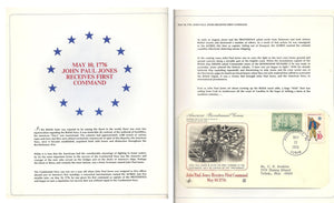 05 10 1976 FDC WH John Paul Jones Receives First Command on 05 10 1776