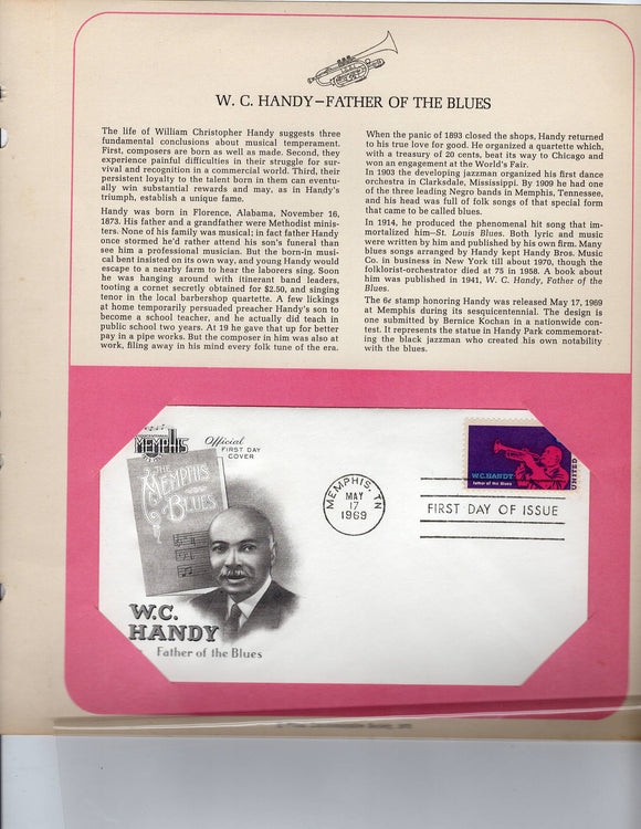 05 17 1969 FDC WH W C Handy