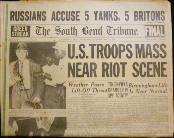05 23 1963 NEWS South Bend Tribune - Riots