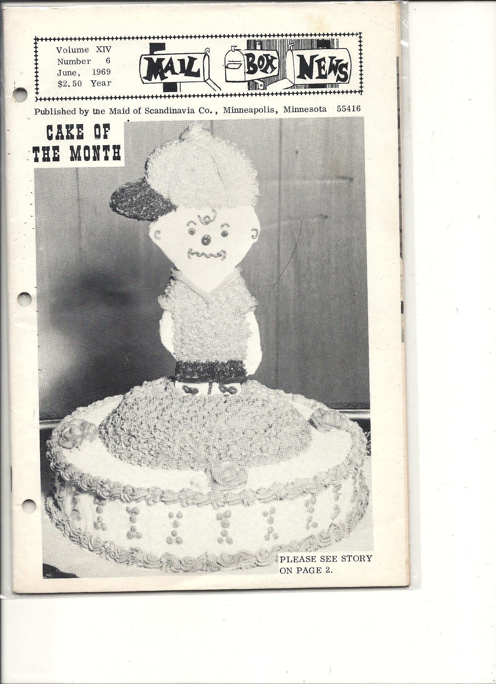 06 00 1969 Mail Box News Cake of the Month