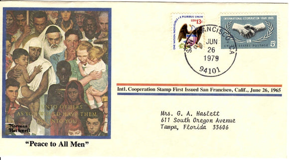 06 26 1979 FDC Peace to All Men