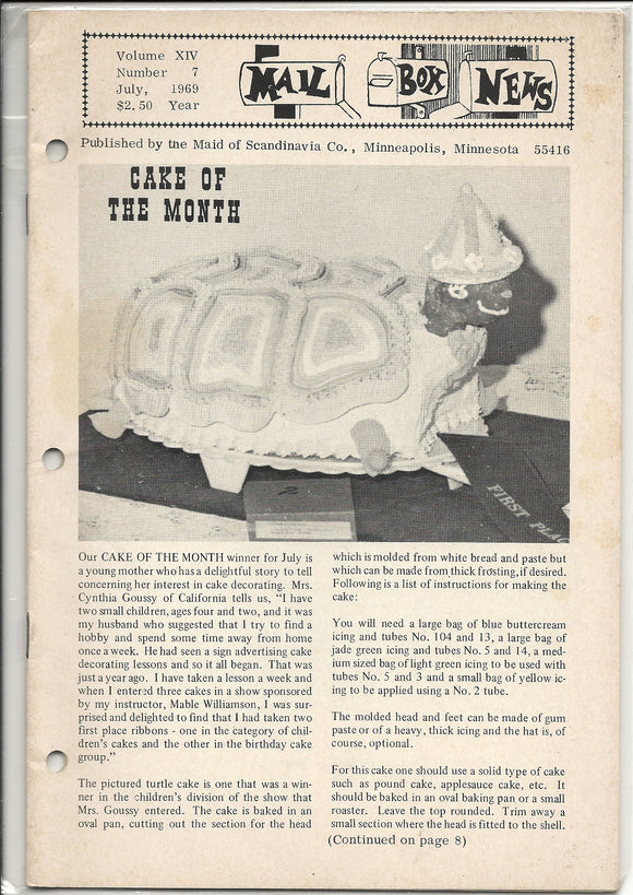 07 00 1969 Mail Box News Cake of the Month