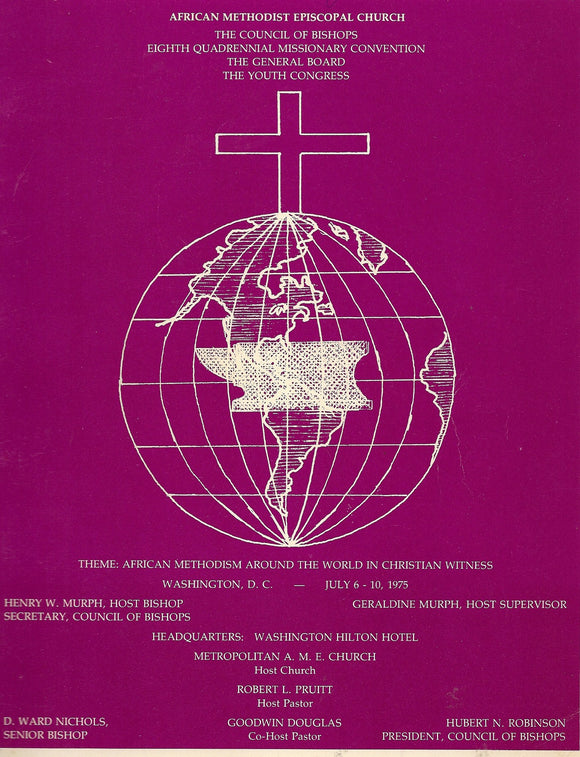 07 06 1975 Rare book of AME Church Council of Bishops