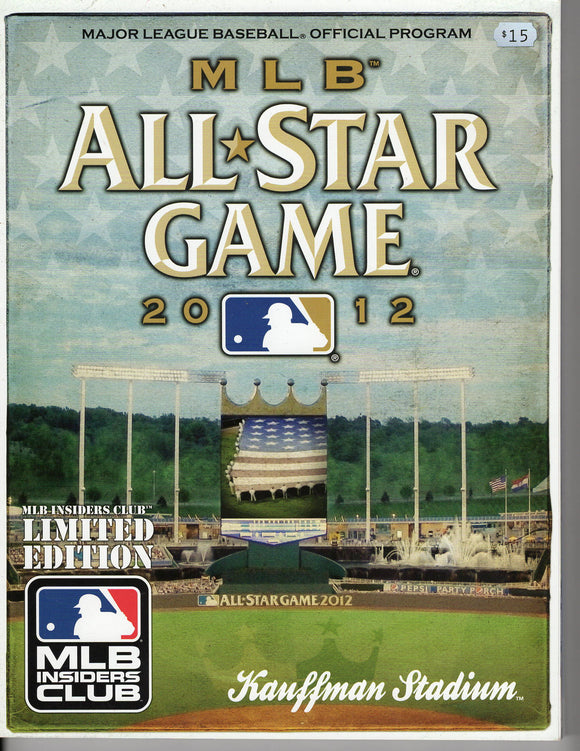 07 10 2012 MLB All-Star Game Program