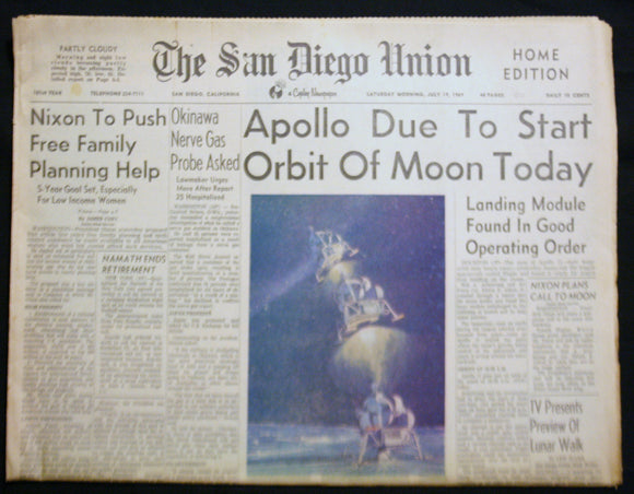 07 19 1969 NEWS San Diego Union -Apollo - Nixon