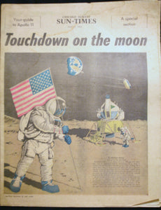 07 13 1969 NEWS Chicago Sun-Times Moon Landing