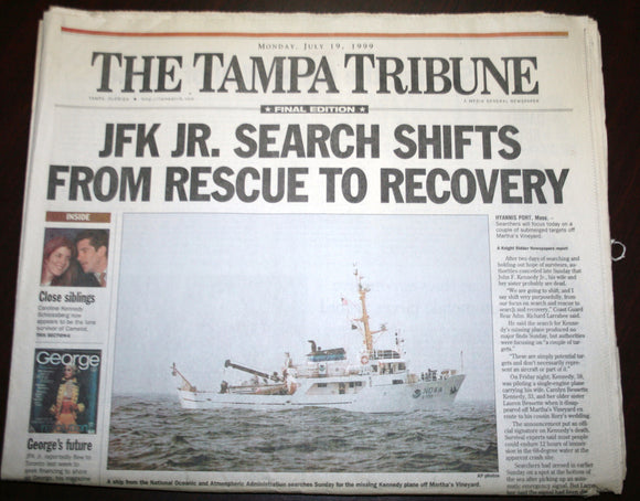07 19 1999 News Tampa Tribune - JFK Jr