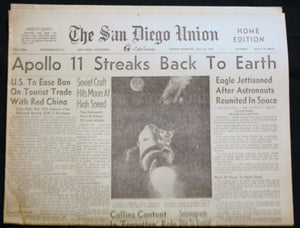 07 23 1969 NEWS San Diego Union - Apollo Back to Earth