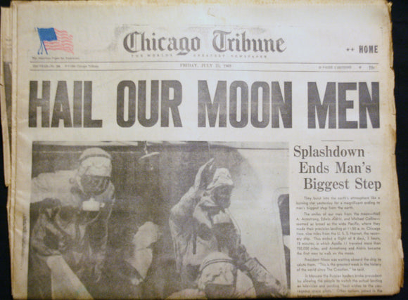 07 22 1969 NEWS Hail Our Moon Men