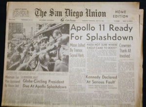 07 24 1969 San Diego Union -  Apollo 11 Splashdown