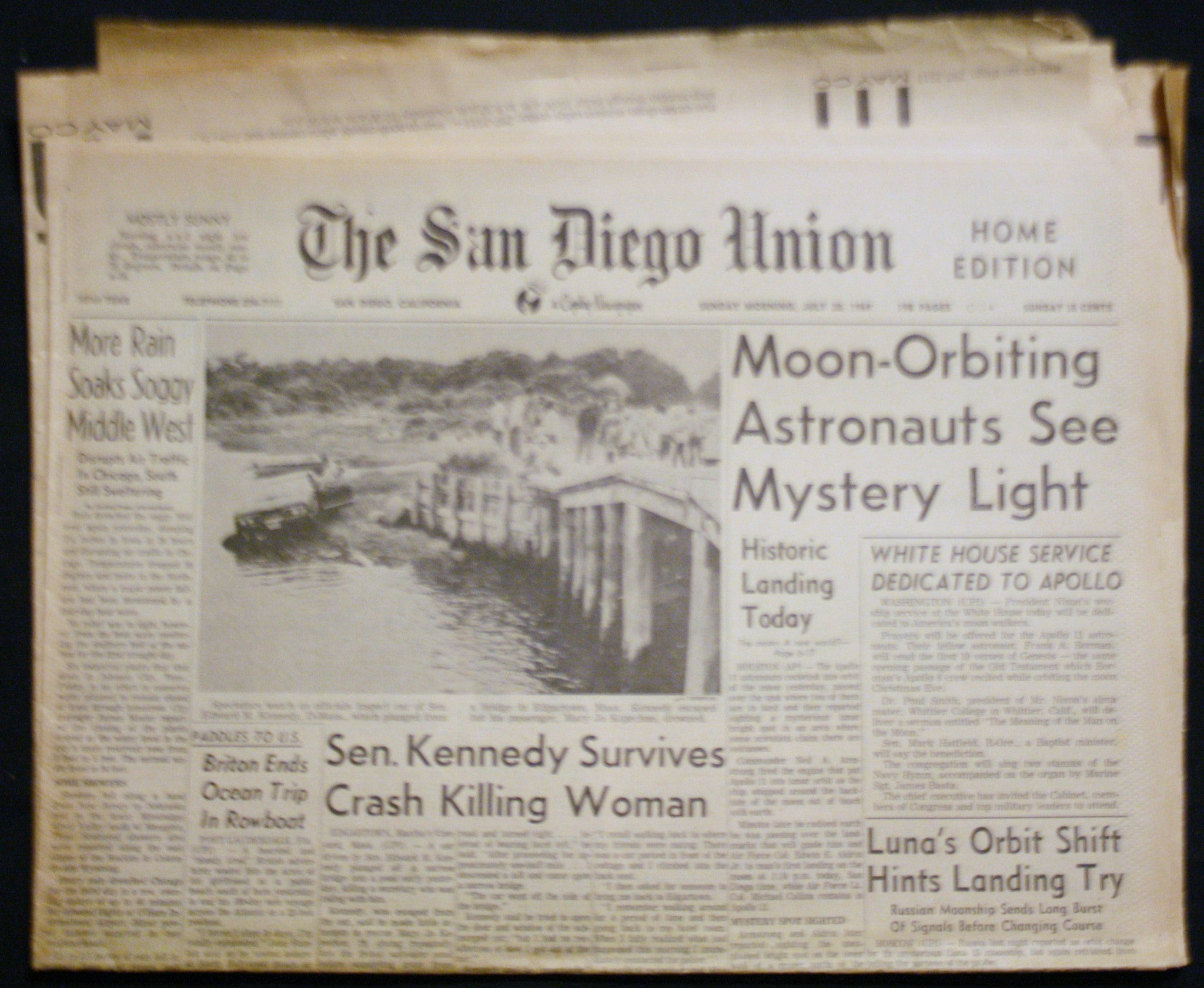 07 28 1969 NEWS Moon Orbiting Ted Kennedy